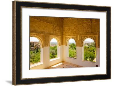 Generalife Windows Granada, Spain-neirfy-Framed Photographic Print