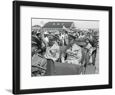 Generals Dwight Eisenhower and George Marshall Sitting in a Jeep at a Washington D.C. Airport