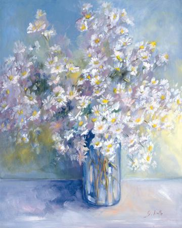 Delphiniums and Daisies