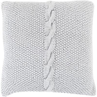 Genevieve Down Fill Pillow - Light Grey--Home Accessories