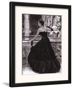 Black Evening Dress, Roma 1952 by Genevieve Naylor