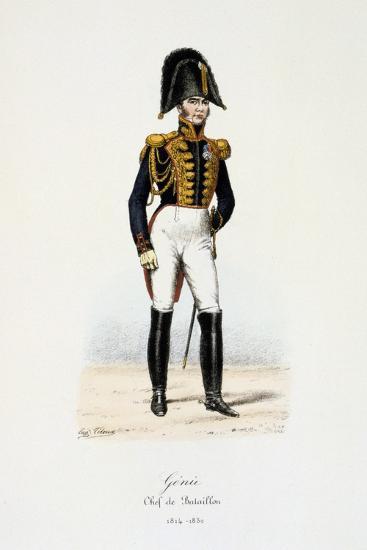 Génie, Chef De Bataillon, 1814-30-Eugene Titeux-Giclee Print