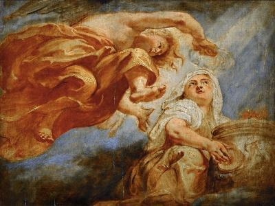 Genius Crowning Religion. Sketch for the Apotheosis of King James I-Peter Paul Rubens-Giclee Print