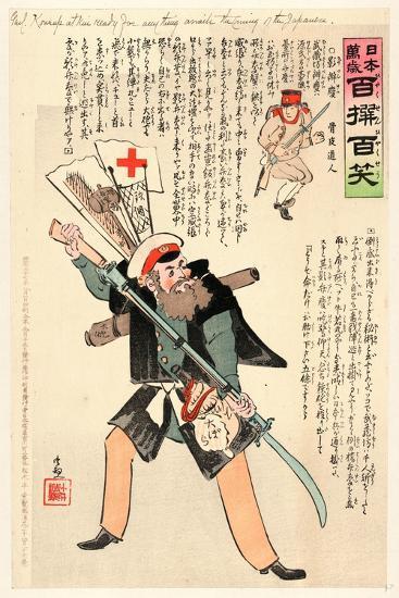 Genl. Kuropatkin Ready for Anything Awaits the Coming of the Japanese-Kobayashi Kiyochika-Giclee Print