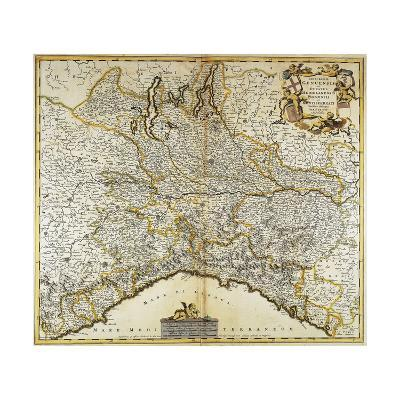 Genoa Republic, Duchy of Milan, Parma and Monferrato, Map--Giclee Print