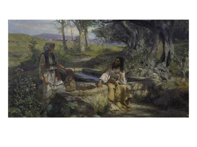 Christ and the Samaritan Woman at the Well, 1890