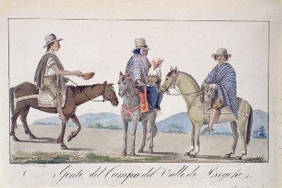 Gente, Del Campo Del Valle De Bogota, C.1840-Joseph Pio Dominguez-Giclee Print