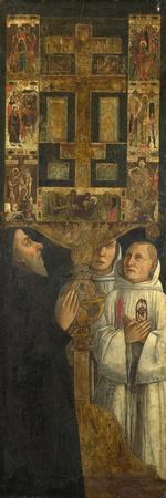Cardinal Bessarion and Two Members of the Scuola Della Carità in Prayer, C. 1473