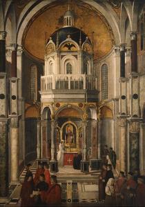 Healing of Pietro De Ludovici, Circa 1501 by Gentile Bellini