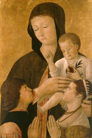 Madonna with Child and Two Donors, 1460