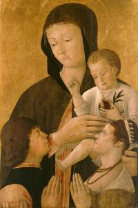 Madonna with Child and Two Donors, 1460 by Gentile Bellini
