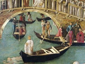 Miracle of Cross at Bridge of San Lorenzo by Gentile Bellini