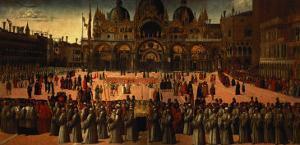 Procession in St. Mark's Square, 1496 by Gentile Bellini