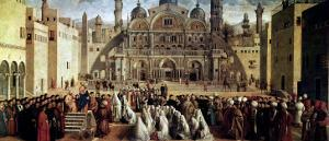 St. Mark Preaching in Alexandria, Egypt, 1504-07 by Gentile Bellini