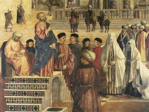 St Mark Preaching in Alexandria, Egypt by Gentile Bellini