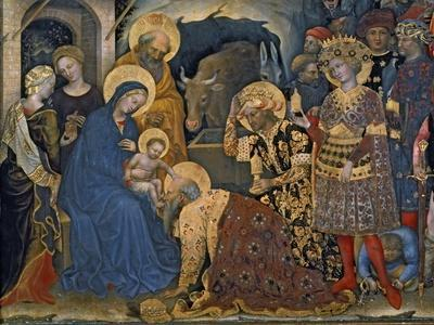 The Adoration of the Magi, Detail of Virgin and Child with Three Kings, 1423