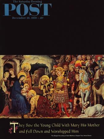 """Adoration of the Magi"" Saturday Evening Post Cover, December 26, 1959"