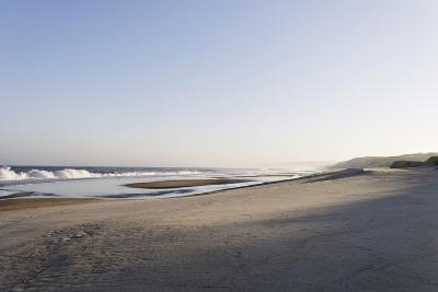 Gentle Light at Sunrise, Surf, Portuguese Atlantic Coast, Praia D'El Rey, Province Obidos, Portugal-Axel Schmies-Photographic Print