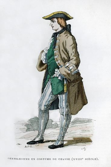 Gentleman in a Hunting Costume, 18th Century (1882-188)--Giclee Print