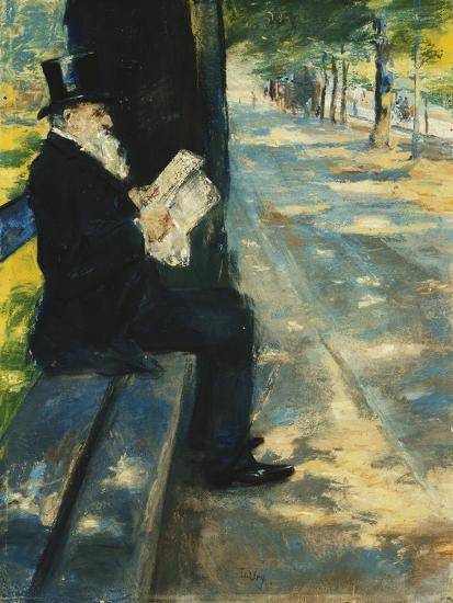 Gentleman in the Park-Lesser Ury-Giclee Print