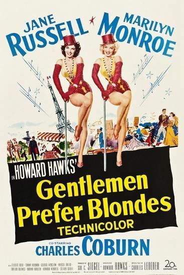 Gentlemen Prefer Blondes, 1953--Art Print