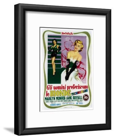 Gentlemen Prefer Blondes (aka Gli Uomini Preferiscono Le Bionde), Italian Poster Art, 1953