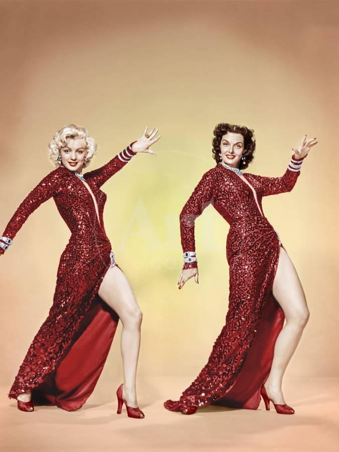 GENTLEMEN PREFER BLONDES, from left: Marilyn Monroe, Jane Russell ...