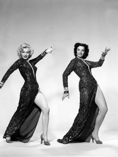 Gentlemen Prefer Blondes, Marilyn Monroe, Jane Russell, 1953--Photo