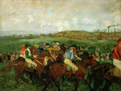 Gentlemen Race. Before the Departure, 1862-Edgar Degas-Giclee Print