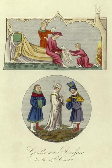 Gentlemen's Dresses in the 14th Century--Giclee Print