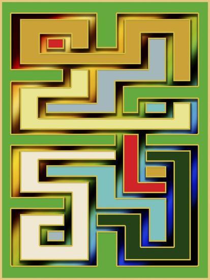 Geo 9-Art Deco Designs-Giclee Print