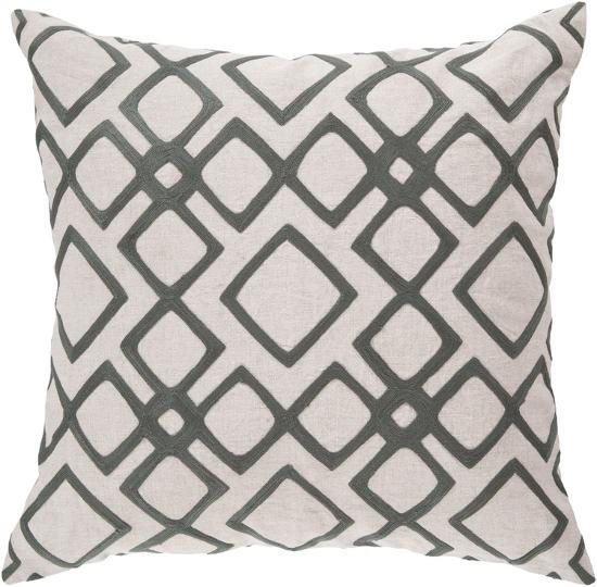 Geo Diamond Poly Fill Pillow - Charcoal--Home Accessories