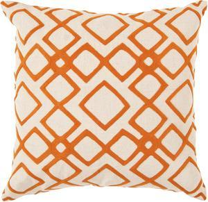 Geo Diamond Poly Fill Pillow - Pumpkin