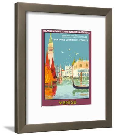 Venice (Venise), Italy - Venetian Grand Canal - Fast Train Daily