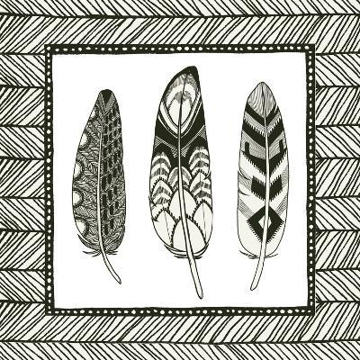 Geo Feathers Square III-Sara Zieve Miller-Art Print