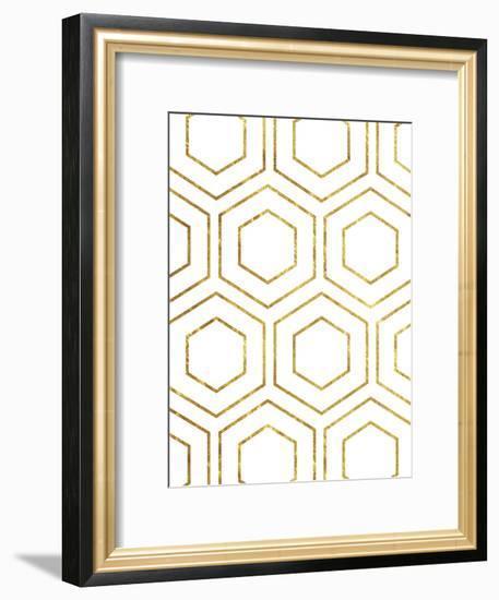 Geo Gold Flow-Sheldon Lewis-Framed Art Print