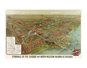 Terminals of the Chicago and North-Western Railway at Chicago, 1902 by Geo H^ Walker and Co^