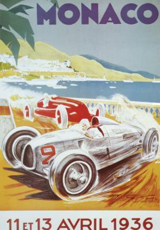 8th Grand Prix Automobile, Monaco, 1936 by Geo Ham