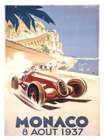 24x36 1937 Journee International Automobile Vintage French Racing Poster