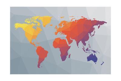 Geo Map I-Moira Hershey-Art Print