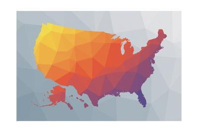 Geo Map II-Moira Hershey-Art Print