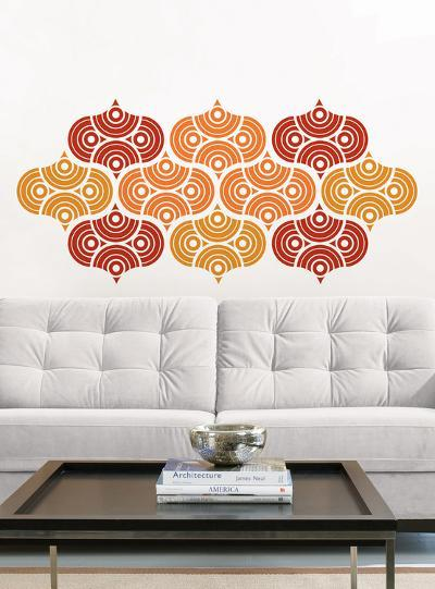 Geo Scales Wall Decal Sticker Art Kit--Wall Decal