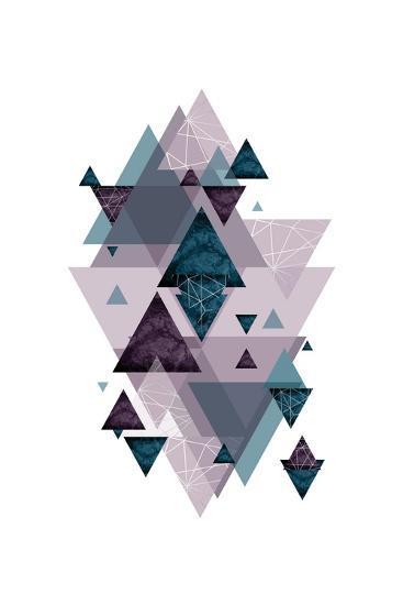 Geo Triangles SoftLuxe-Urban Epiphany-Art Print