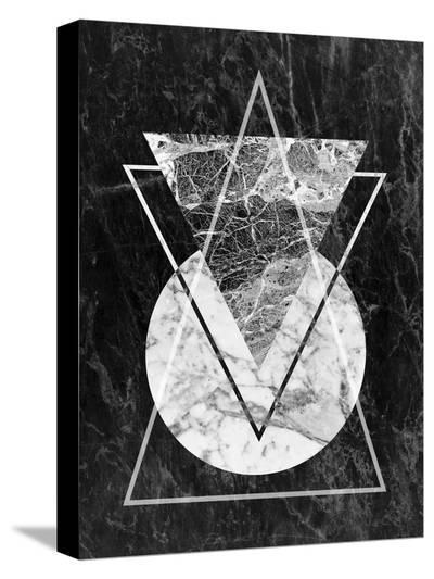 Geo Triangles-LILA X LOLA-Stretched Canvas Print