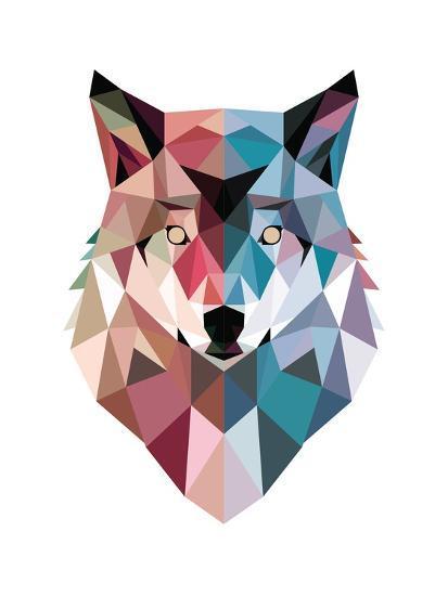 Geo Wolf-Michael Buxton-Premium Giclee Print
