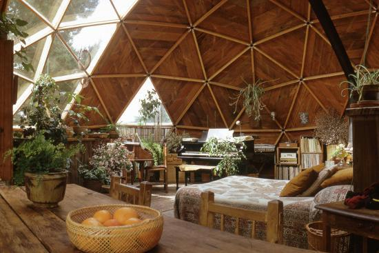 Geodesic Dome House Designed by Cathedralite Domes for Dr Charles Bingham, Fresno, CA, 1972-John Dominis-Photographic Print