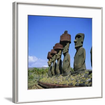 Ahu Nau Nau at Anakena Beach, Easter Island, Chile