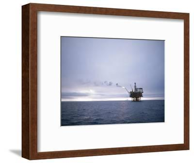 Berylfield Oil Drilling Rigs in the North Sea, Europe