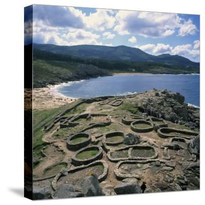 Celtic Ruins Near Porto Do Son, West Coast Castro De Barona, Galicia, Spain, Europe
