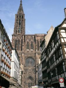 Gothic Christian Cathedral Dating from the 12th to 15th Centuries, Strasbourg, Alsace, France by Geoff Renner